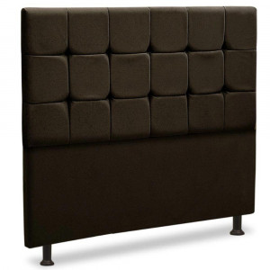 Cabeceira Casal Sleep - Para Cama Box 1,60 - Suede Chocolate - JS Móveis