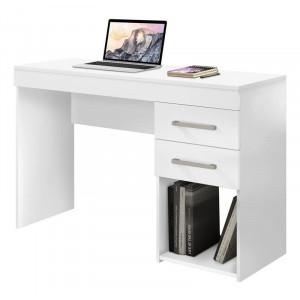 Escrivaninha Aspen - 1,21m - 2 Gavetas - Branca - CSA Móveis