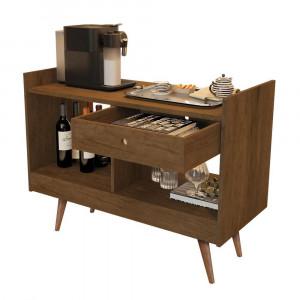 Aparador Bar Buffet Luxo 4064 - c/ Gaveta e 2 Repartições - Canela - JB Bechara