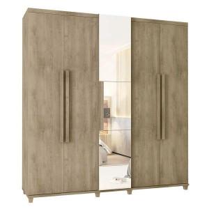 Guarda-Roupa Casal Munique 5 Portas com Espelho Niagara - RV Móveis