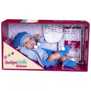 Boneco Boutique Dolls Reborn Menino Super Toys 474