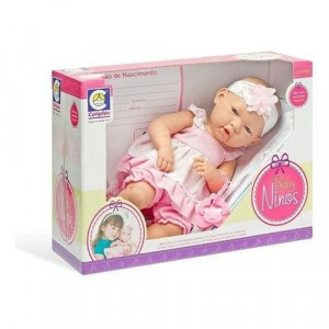 Boneca Baby Ninos Com Certidão Estilo Reborn Cotiplas 2032