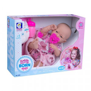 Boneca Love Born Newborn Bebezinho da Mamãe faz Xixi Cotiplas 2381