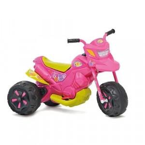 Moto Eletrica XT3 6V Duas Marchas Fashion Rosa Bandeirante 2701