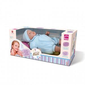 Boneca Bebê Real Reborn Roupa Azul Menino Roma 5083