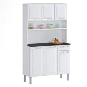 Kit Cozinha Rose Compacta Branco I3G1-105 6 Portas 1 Gaveta Itatiaia