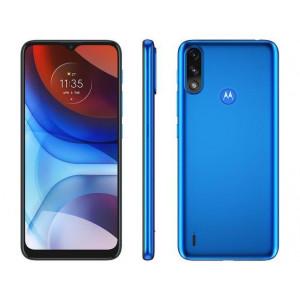 """Smartphone Motorola Moto E7 Power Azul Metálico 32GB, Bateria 5000 mAh, Tela de 6.5"""", Câmera Traseira Dupla, Android 10 e Processador Octa-Core"""