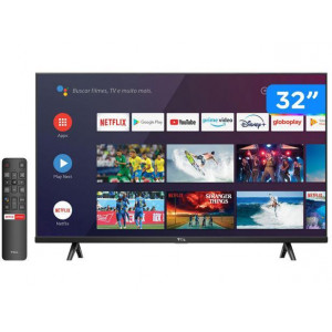 "Smart TV 32"" HD LED S615 VA 60Hz - Android Wi-Fi e Bluetooth Google Assistente 2 HDMI - TCL"