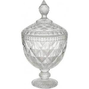 Potiche com Pe Cristal Diamond 15x28cm 7767 Lyor