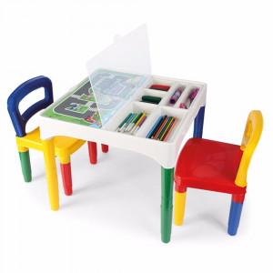 Mesinha Didática Infantil com Duas Cadeiras 5825 - Poliplac