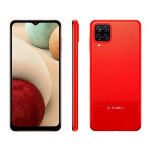 Smartphone Galaxy A12 64GB Vermelho 4G - 4GB RAM Tela 6,5 Câm Quádrupla + Selfie 8MP - Samsung