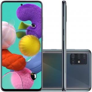 "Smartphone Samsung Galaxy A51 - 4GB RAM 128GB Câmera Quádrupla 48MP + Selfie 32MP Tela 6.5"" Android 10 - Preto"