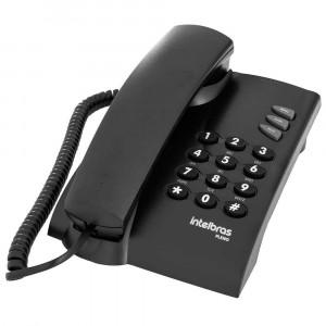Telefone Com Fio Intelbras Pleno - Preto - Preto