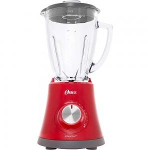 Liquidificador Super Chef Vermelho - Função Pulsar 8 Velocidades 750W Jarra de Vidro - Oster - 127V