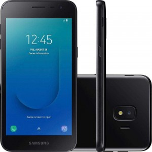 "Smartphone Samgung Galaxy J2 Core 16GB Câmera 8MP Selfie 5MP Tela 5"" Android Go 8.1 - Preto"
