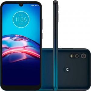 "Smartphone Motorola Moto E6s - 2GB RAM 32GB Câmera Dupla 13MP + Selfie 5MP Tela 6.1"" Android 9.0 - Azul Navy"