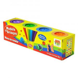 Modele e brinque com 4 potes DMT4735 DmToys