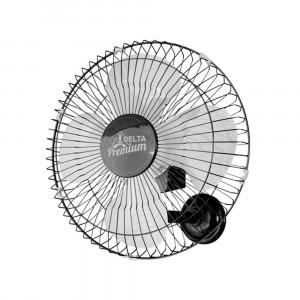 Ventilador de Parede Premium - 50cm 4 Pás 3 Velocidades Preto - Bivolt- Venti-Delta