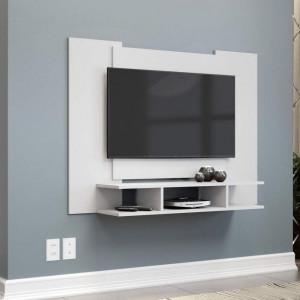 Painel para TV até 48 Polegadas com Nichos - Branco - EJ Móveis