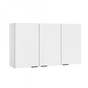 Armário Aéreo de Cozinha em Aço Itatiaia Exclusive - Horizontal 3 Portas - Branco