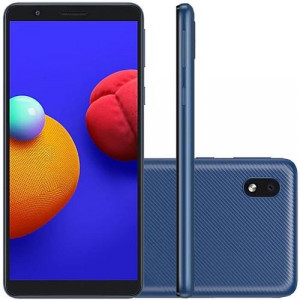 "Smartphone Samsung Galaxy A01 Core - 2GB RAM 32GB Câmera 8MP Tela 5.3"" - Azul"